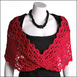 Lace With A Twist Wrap - Photo courtesy of Annie's Publishing