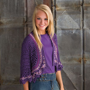 Sparkling Lace Shrug - Annie's Publishing