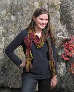 M2H Designs: Tumbling Leaves Scarf