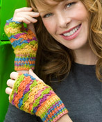 Crochet Lace Fingerless Mitts - Photo courtesy Coats & Clark