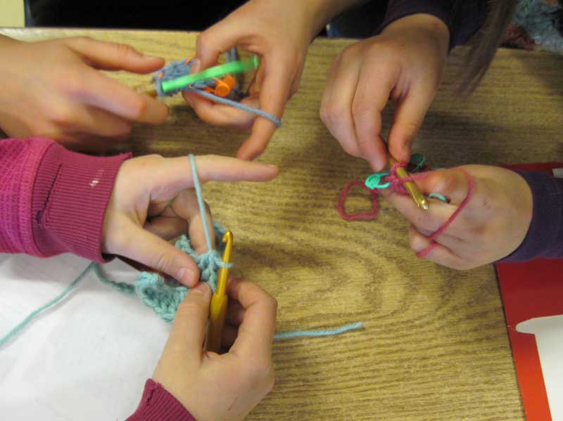 Crocheting Using Your Hands : Crocheting Kids Two Hands Healing and Creative Arts
