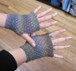 Spiraling Crosses Gauntlets - Andee Graves/M2H Designs