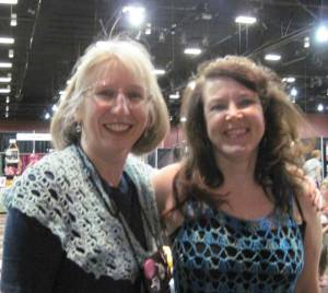 Amy and I in Reno at the Knit & Crochet Show