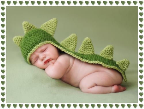 Dinosaur Baby HatPhoto courtesy of Too Cute Crochet