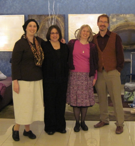Lindsey Stephens, Karen Whooley, Me, and Charles VothAt TNNA Winter Show - January 2012