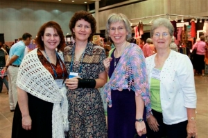 Shari White, Susan Lowman, Me, Joyce Bragg Waiting for Editors at Meet & Greet