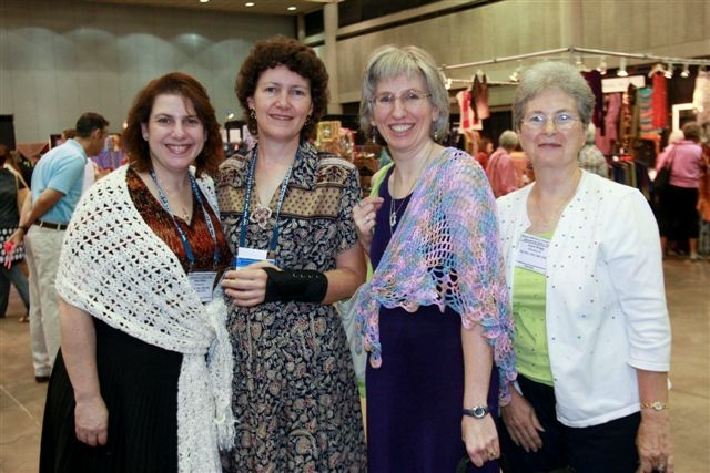 Shari White, Susan Lowman, Me, Joyce BraggWaiting for Editors at Meet & Greet