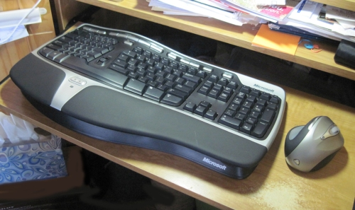 Keyboard at desk