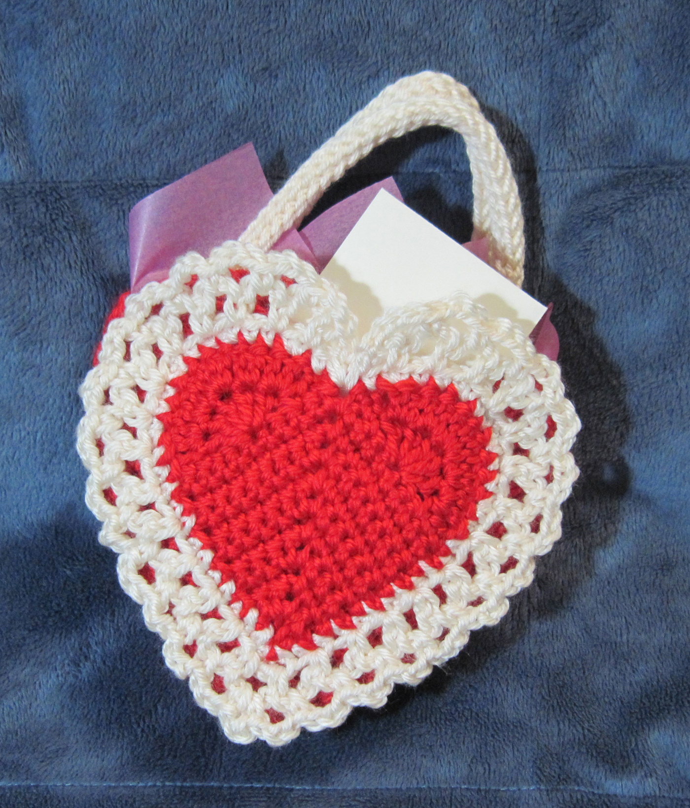 Crochet Little Bag : ... little pocket, where a note or small card can be tucked away