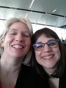 Tired but Happy. Selfie of Us at Airport.