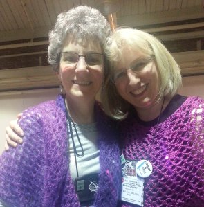 My good friend Amy D. We have been Ravelry friends for a long time and always enjoy seeing each other IRL.
