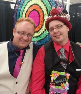 Dan and Mikey of The Crochet Crowd fame.