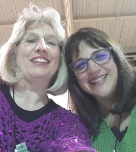 "Karen and I in a ""selfie"" during the banquet."