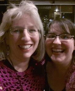 Linda Perman and I cracking up taking a selfie.