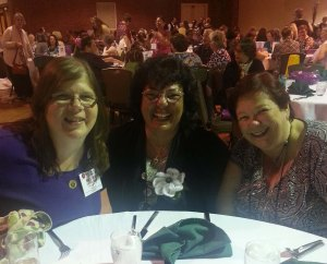Mary Beth, Deb Seda-Tetsut, Andrea G. at the Banquet.