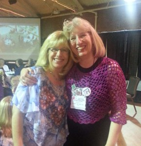 Randy Cavaliere and Me at the Banquet.  We all got to sing Happy Birthday to her.