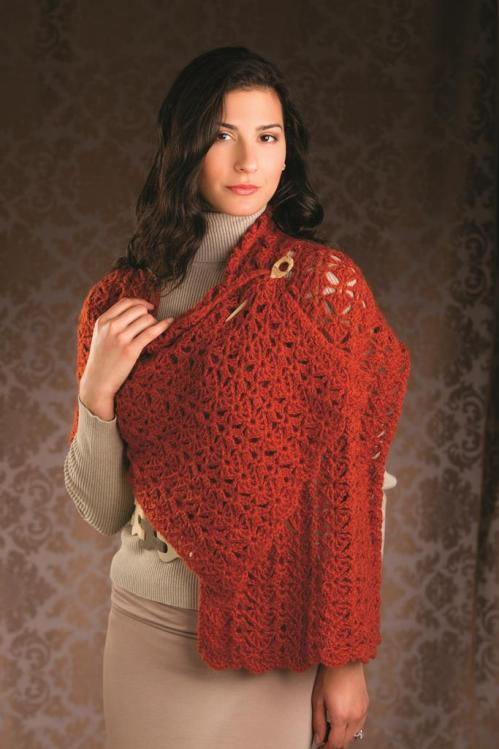Winged Columns Shawl 2