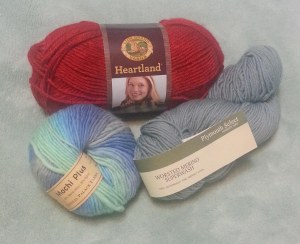 Yarn from goodie bags.