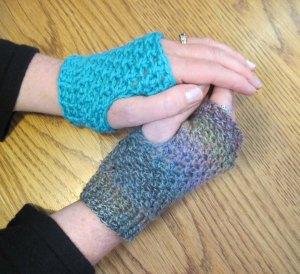 Crocheting Wristers