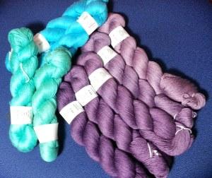 Pile of Silk Yarn