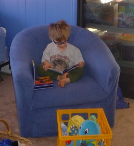 Reading Chair in Boys' room when it was new.