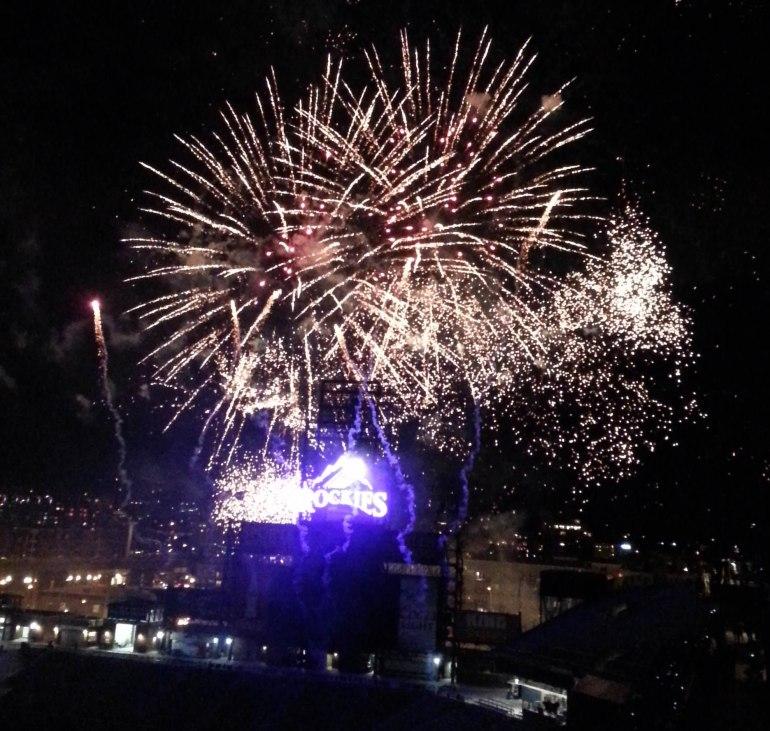 Fireworks after Game