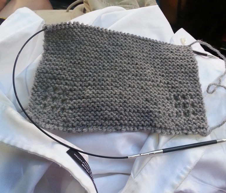 Beginning of my son's Christmas Scarf.