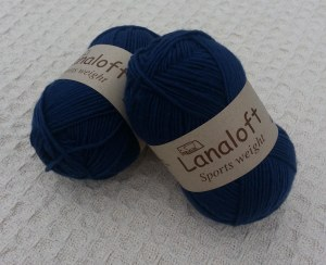 Navy Brown Sheep LanaLoft Sport