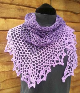 Shawl as neck wrap