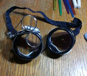 Goggles ready to wear