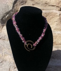 Twisted strands w Spiral fastener on rock