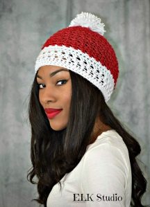 Peppermint Kisses Beanie - Kathy Lashley/ELK Studio