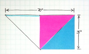 2 Triangles 1 square