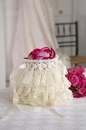 Ruffled Wedding Bag photo courtesy Red Heart North America