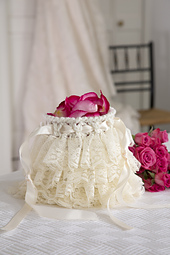 Ruffled Wedding Bag photo courtesy Red Heart North America