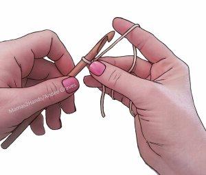 Left-handed grasp of working loop