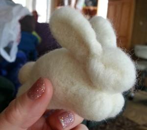 Needle Felted Bunny 1