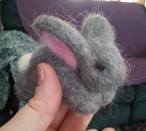 Needle Felted Bunny 2