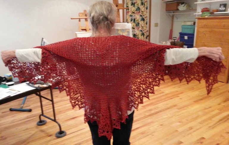 Finished Shawl