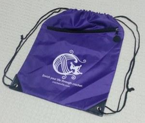 Purple Backpack bag