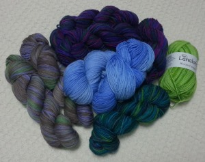 Pile of Yarn from Scotts Bluff Valley Fiber Arts Fair