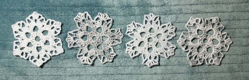 Row of Sparkling Ice Snowflakes - Andee Graves M2H Designs